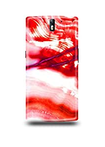 Red & White Marble Oneplus One Case