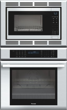 """Masterpiece Series MEDMC301JS 30"""" Double Combination Electric Wall Oven With 4.7 Cu. Ft. True"""