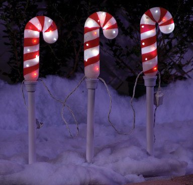 Gemmy Imports 82526 Candy Cane Path Markers