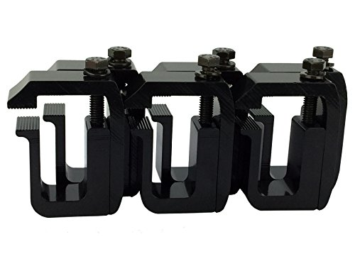 GCI Truck Cap / Camper Shell Clamps - Black Powder Coated (set of 6) (Toyota Tundra Camper Shell compare prices)