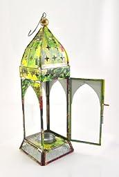 Recycled tin lantern tea light Holder - Mughal