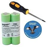 HQRP Battery fits Philips Norelco QC5120, QC5125, QG3280, QS6100 trimmer, QT4070 Razor / Shaver + Screwdriver and Coaster