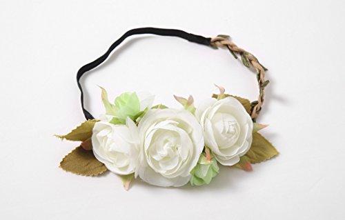 Bow Dream Lovely Lace V-Neck Flower Girl Dress White 5