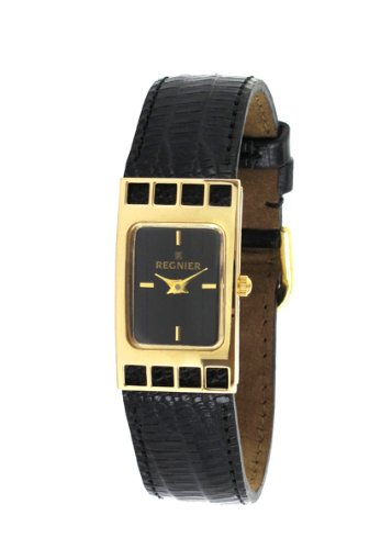 Régnier Cadrage Ladies Analog Watch 2070212 with Black Leather Strap
