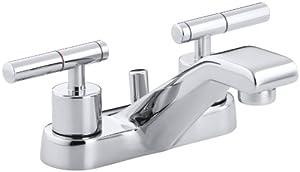 KOHLER K-8201-4-CP Taboret Centerset Lavatory Faucet, Polished Chrome