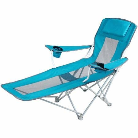 Teal Blue Outdoor Reclining Armchair