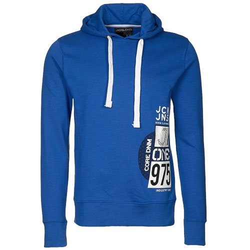 Jack & Jones Alvin Core Overhood Hooded Sweatshirt Top Hoody Mens Size XL - Sea