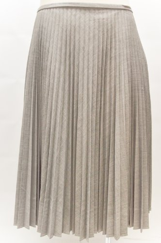 Anne Klein Delano Grey Accordion Pleated Fix Waist Skirt
