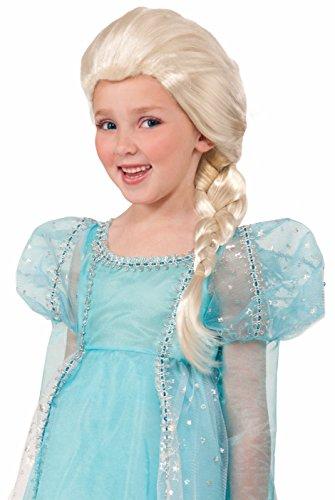 Side Braid Child-size Blonde Princess Wig - Frozen Elsa