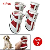 Como Red White Breathable Net Zipper Closure Boots Puppy Dog Shoes Size 2