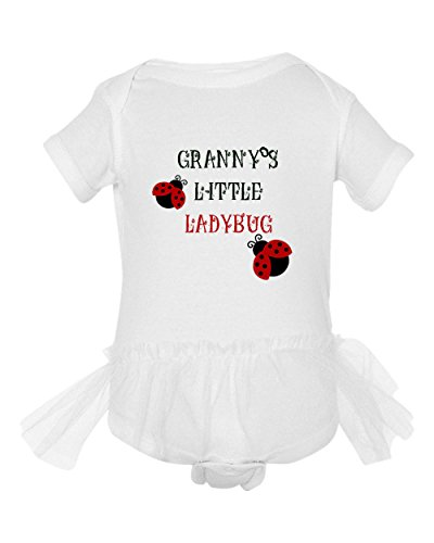 Granny'S Little Ladybug Tutu Girl Baby Bodysuit One Piece