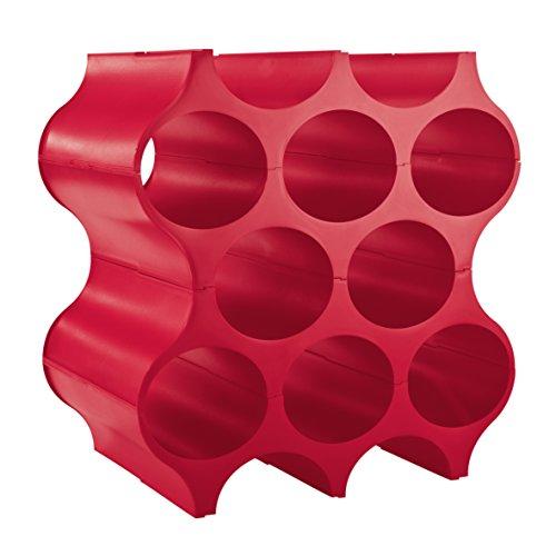 Koziol set-up, etagère à bouteilles, support de bouteilles, etagère à vins, rouge framboise opaque, 3596583