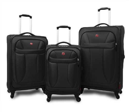Trolley Koffer Set 3 tlg. - NEO LITE - Schwarz