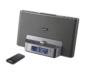 IPHONE/IPOD DOCKINGSTATION+UHRENRADIO ICF-DS15IP SILBER
