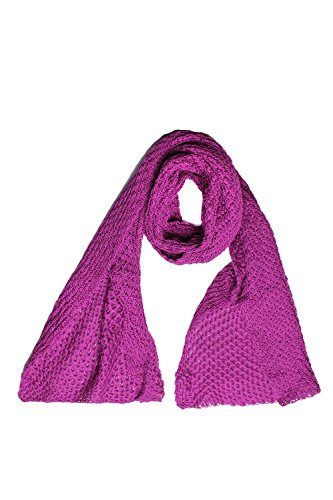 ANTA Q'ULQI - Sciarpa da Donna - 100% Cotone Pima - Rosso, Taglia unica