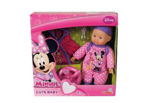 Simba 105018123 - Minnie Mouse Bebè con Accessori, 20 cm