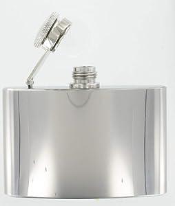 Hip Flask 4oz (FL1)- Polished Steel Excellent Quality Hip Flask