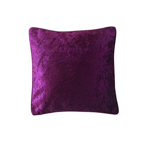 Purple Velvet Cushion Cover Designer Fancy ( Inaugural SALE Price )