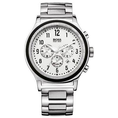 New Hugo Boss Men's Chronograph Stainless Steel Bracelet Watch with Three Sub-Dials and Date Display 1512326