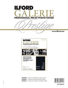 Ilford 2002527 8.5 X 11 Inches GALERIE Prestige Mono Silk, 10 Samples (Black)