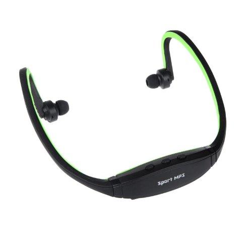 Sport Wireless Mp3 Wma Player Micro Tf Sd Slot Headset Headphone Earphone Green