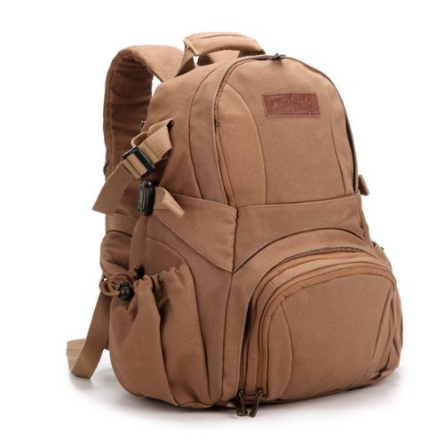 Koolertron Multiple Layers Waterproof Canvas DSLR Camera Backpack
