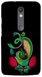 Kasemantra Ganpati In Green Case For Motorola Moto X3