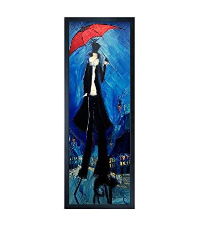Justyna Kopania Red Umbrella Framed Canvas Print