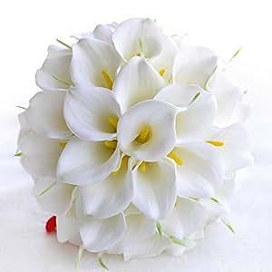 30 Pcs Calla Lily Artificial Bridal Wedding Bouquet Flower Bouquets
