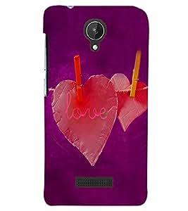 PRINTSWAG LOVE HEARTS Designer Back Cover Case for MICROMAX CANVAS SPARK Q380