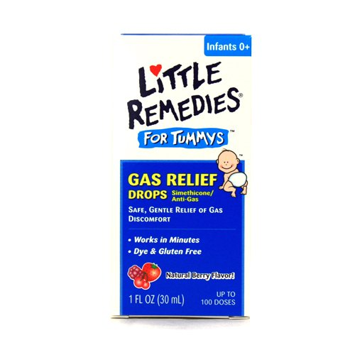 Little Remedies Gas Relief Drops, Natural Berry Flavor - 1 Oz, 2 Pack front-400145