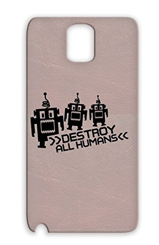 Destroy F1 Black Protective Case For Sumsang Galaxy Note 3 Alien Monster Robo Nerd Robot Funny Human Provocative Computer Beast Freak