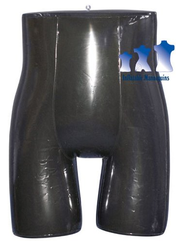 Inflatable Mannequin, Unisex Panty/Brief Form, Shiny Black