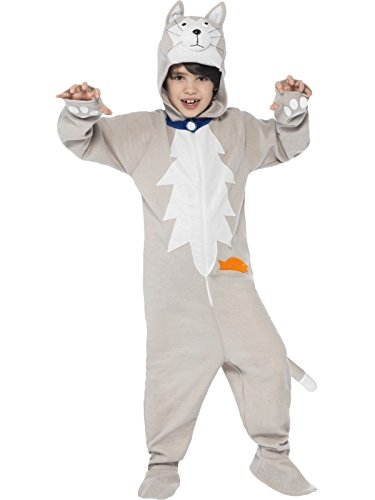 Smiffys Battersea Smudge The Cat Costume - Medium Age 7-9