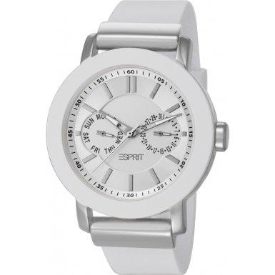 Esprit ES105622002 - Reloj analógico de cuarzo para mujer con correa de plástico, color blanco