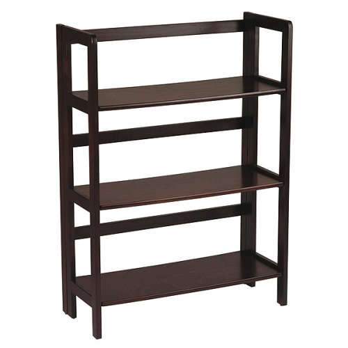 Folding Bookcase - Espresso