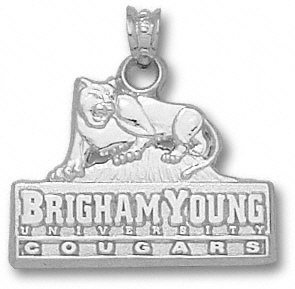 BYU Cougars Solid Sterling Silver Primary Logo 5/8