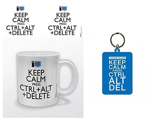 Set Humour Keep Calm Ctrl Alt Delete Tasse Caf Mug 9