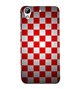 Chess Board Checks Cute Fashion 3D Hard Polycarbonate Designer Back Case Cover for HTC Desire 728 Dual Sim :: HTC Desire 728G Dual Sim