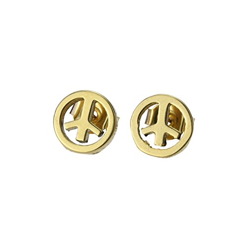 Jiatai® A Pair of Stainless Steel Fashion Earring Studs with Lovely design - Young and Cool (Tiny Circle Design    Gloden)