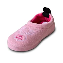 Ifoot Baby Fabric Wool Toasty Slipper Boys Shoes F13003 (S 9-10, pink)