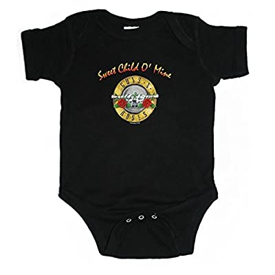Guns N Roses Sweet Child Of Mine Bullet Seal Logo Kids Infant Onesie + Coolie