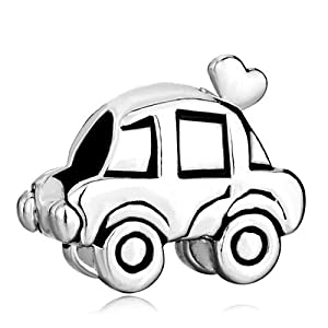silver plated pugster lovely car charm fits