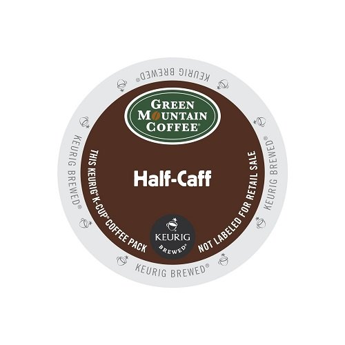 Green Mountain Coffee Half-Caff, Regular/Med Roast K-Cup Portion Pack for Keurig K-Cup Brewers, 24-Count (Half The Caf Keurig Cups compare prices)