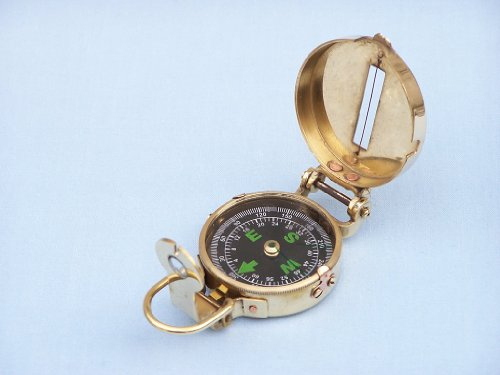 Solid Brass Military Compass for Sale 4