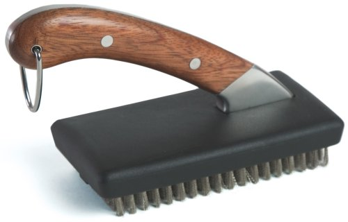 Charcoal Companion CC4028 Compact Rosewood Handle Grill Brush