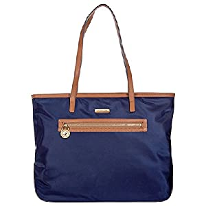 Michael Kors Kempton Large East West Tote Handbag in Navy - Blue