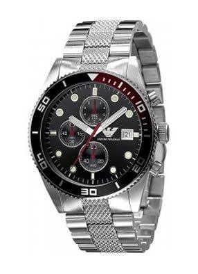 Emporio Armani Sport Chronograph Bracelet Black Dial Men's Watch #AR5855