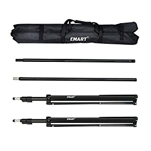 Emart 10ft Adjustable Background Support Backdrop Stand Kit with Carry Bag and Clamps Gifts