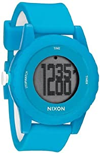 Unisex Watch Nixon A326-917 Genie Light Blue Plastic Resin Case Digital Quartz